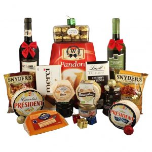 Cheese, Alcohol & Special Delights Gift Basket