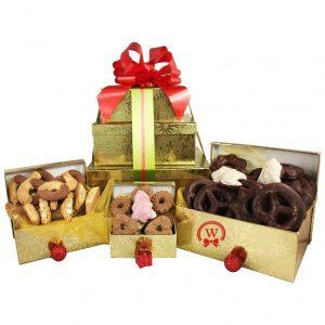 Christmas 3 Tier Blast – Cookies Gift Basket