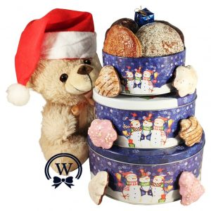 Christmas Perfecto With Teddy – Cookies Gift Basket