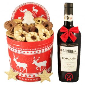 Christmas Unlimited Cookies Tin Box With Red Tuscan – Cookies Gift Basket