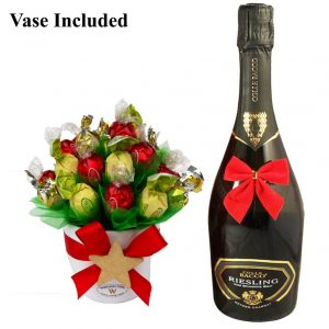 Classic Christmas Sweet Bouquet with A Sparkling Wine