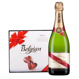 G.H. Mumm & Belgian Bonbons Box