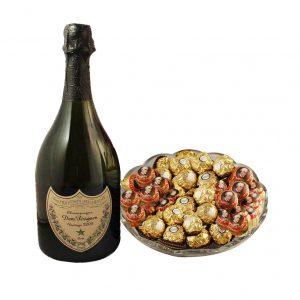 Mozart Rocher Platter With Dom Perignon