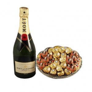 Mozart Rocher Platter With Moet