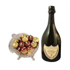 Mozart Rocher Royal with Dom Perignon