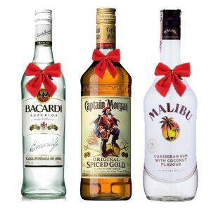 Rum Trio Bacardi Malibu Captain