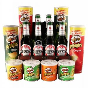 Pringles & Becks XXL Beer Gift Basket