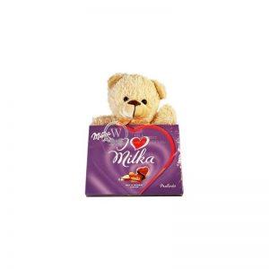 Sweet Milka Hearts With A Teddy