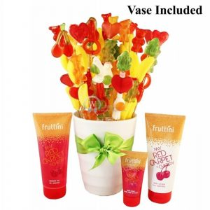 Colorful Harmony – Spa Gift With Candy Bouquet