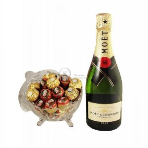 Mozart Rocher Royal with Moet