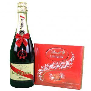 G.H. Mumm & Lindor Bonbons Box