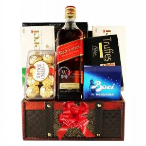Red Johnnie Walker Gift Basket