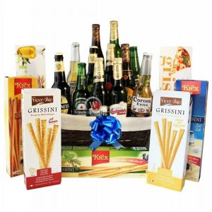 Give Him Beers – Grissini Beer Gift Basket