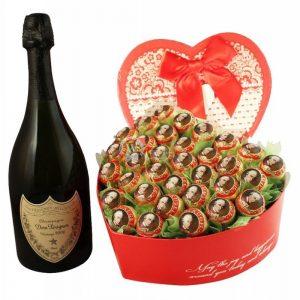 Legendary Love Story – Dom Perignon & Chocolate Bouquet