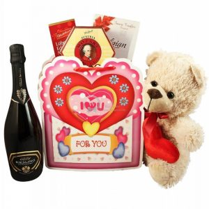 Hugs and Kisses with Sparkling Wine