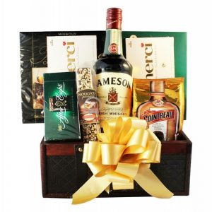 Mr. Jameson Left Dublin – Irish Whiskey Gift Basket