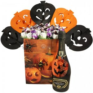 Halloween Sweet Bouquet Gift with Sparkling Wine