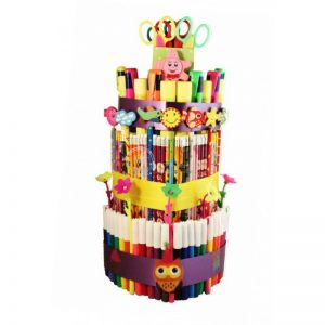 School colorful cake – back to school gift basket