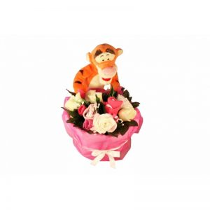 Tigger in a Basket Girl Clothing Bouquet