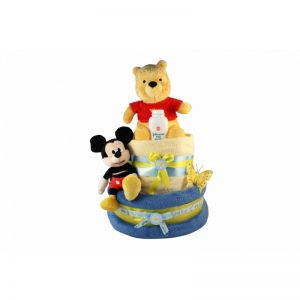 Winnie Pooh & Mickey Diaper Cake